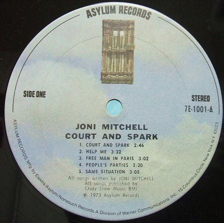 JONI MITCHELL Court and spark .