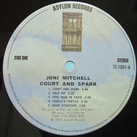 JONI MITCHELL Court and spark .
